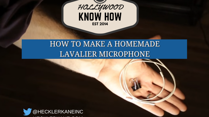 homemade lavalier microphone